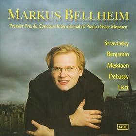 Stravinsky, Liszt, Debussy, Benjamin, Messiaen