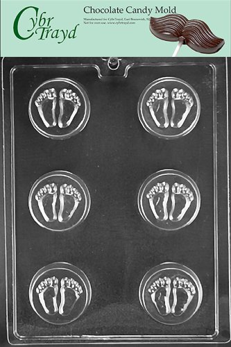 Cybrtrayd B057 Baby Feet Cookie Mold Baby Chocolate Candy Mold front-984076
