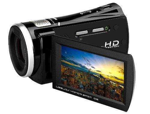 Bell+Howell DV1200HD Camcorder with HD Recording, 5 x Optical Zoom and 3-Inch LCD Screen (Black)