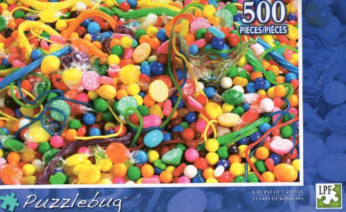 A Burst of Candies - Puzzlebug - 500 Pc Jigsaw Puzzle - NEW