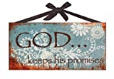 God Keeps His Promises Inspirational Metal Sign