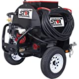 NorthStar Asphalt Sealcoating Skid Sprayer with Trailer Package - 225-Gallon Capacity