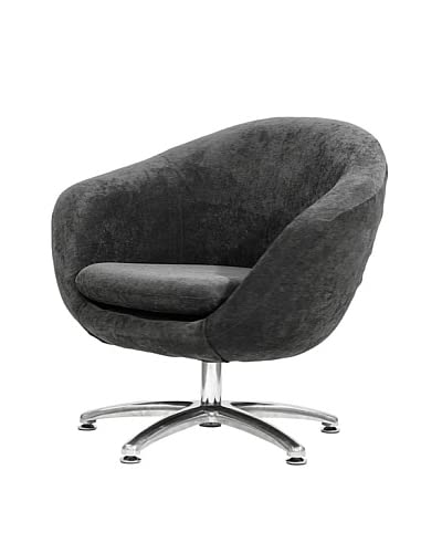 Overman International Five Prong Base Comet Chair, Dark Grey