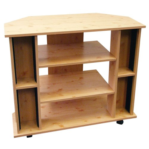 ORE International R556NA Corner TV Stand Natural Color