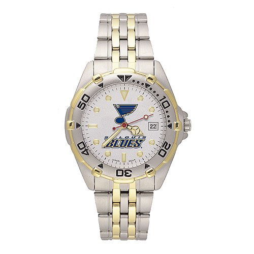 NHL St. Louis Blues Men's All Star Watch Stainless Steel Bracelet