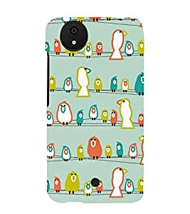 Sitting Birds 3D Hard Polycarbonate Designer Back Case Cover for Micromax Canvas Android A1 AQ4501 :: Micromax Canvas Android A1