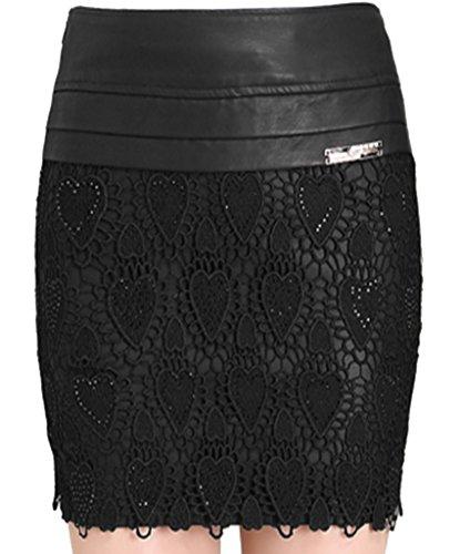helan-mujeres-pu-falda-de-cuero-adornado-con-encaje-flores-eu-34-negro