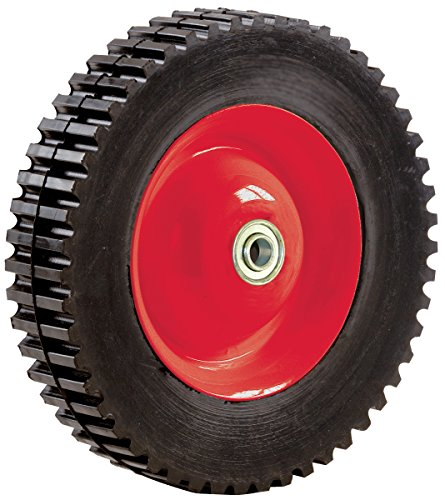 Shepherd Hardware 3355 8-Inch Semi-Pneumatic Rubber Tire, Steel Hub with Ball Bearings, Gear Tread, 1/2-Inch Offset Axle Diameter 1 1 2 inch stainless steel 3 way ball valve types of pneumatic valves