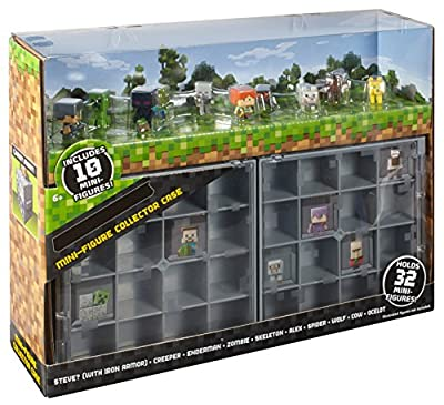 Minecraft Mini-Figure Collector Case with 10 Mini-Figures from Mattel