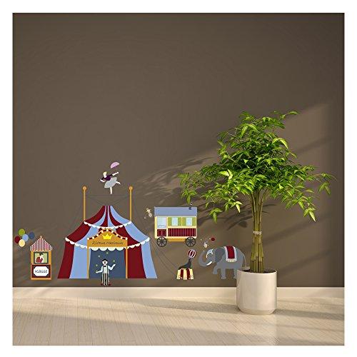 wandsticker set zirkus ein lustiges wandbild f r das kinderzimmer zu hause in 3 gr en. Black Bedroom Furniture Sets. Home Design Ideas