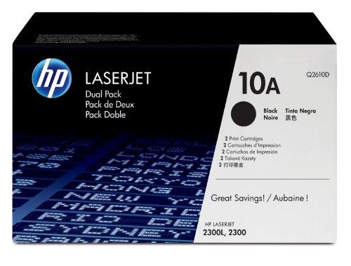 HP Hewlett Packard Q2610D (Q2610A X 2 10A X 2) toner cartridge black Laserjet