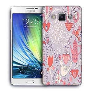 Snoogg White Pigeon Printed Protective Phone Back Case Cover For Samsung Galaxy A7