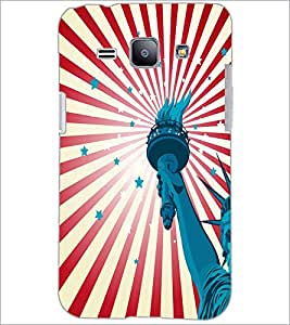 PrintDhaba Liberty Of Statue D-5582 Back Case Cover for SAMSUNG GALAXY J1 (Multi-Coloured)