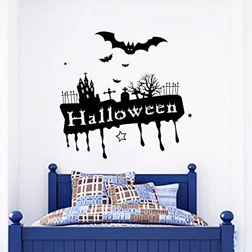 Wall Decals Halloween Monsters Horror Skeletons Castle