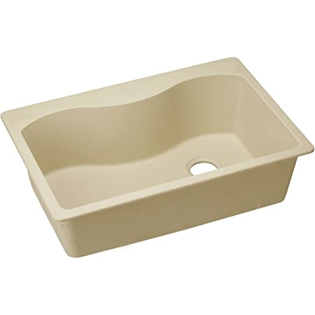 "Elkay ELGS3322RSD0 Granite 33"" x 22"" x 9.5"" Single Bowl Top Mount Kitchen Sink, Sand"