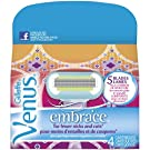Gillette Venus Embrace Purple Women's Razor Blade Refills 4 Count