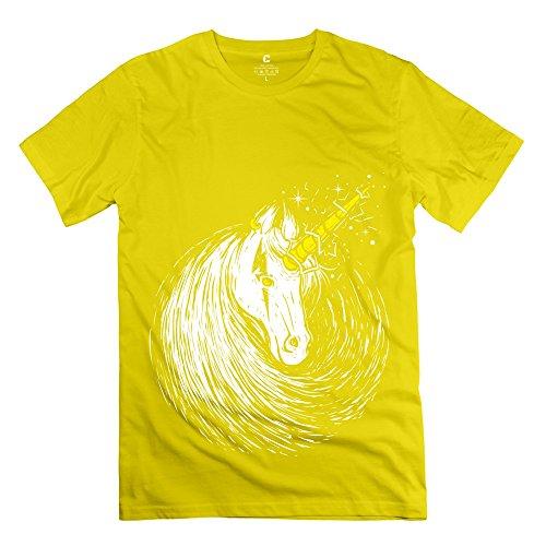 Tbtj-X Scar Unicorn T-Shirts For Boy Yellow Xx-Large