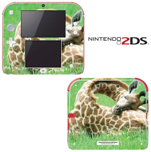 Sleeping Baby Giraffe Decorative Video Game Decal Cover Skin Protector For Nintendo 2Ds front-310839