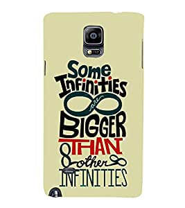 Some Infinities Bigger 3D Hard Polycarbonate Designer Back Case Cover for Samsung Galaxy Note 4 N910 :: Samsung Galaxy Note 4 Duos N9100