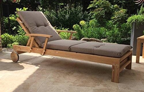 Auflage-Gartenliege-Liegestuhl-Sonnenliege-Relaxliege-Sand