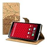 kwmobile Custodia chic in pelle per OnePlus One con pratica funzione di supporto - Fantasia carta geografica,...