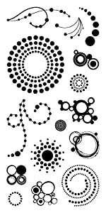 Inkadinkado Circles and Dots Clear Stamps