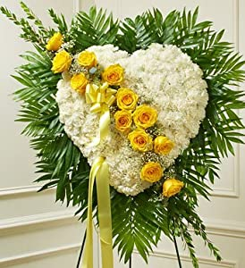 1-800-Flowers - Always in My Heart Floral Heart - Yellow By 1800Flowers