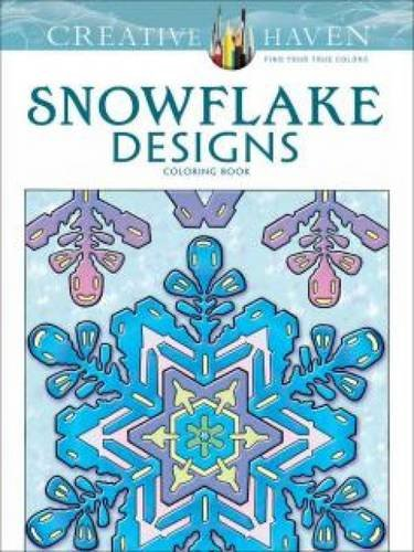 Creative Haven Snowflake Designs Coloring Book (Adult Coloring) (Colored Pencil Patterns compare prices)