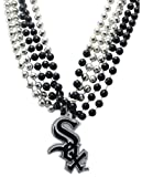 MLB Chicago White Sox Team Medallion and Mardi-Gras Bead Set