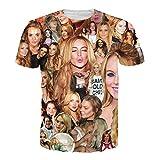 T-shirt 3D Print Super Star Lindsay Lohan Vogue Hip Hop Sleeves Funny (M)