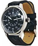 Mil-Tec Vintage Style WW2 Pilot Watch with Black Leather Strap