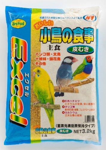 ナチュラルペットフーズ エクセルおいしい小鳥の食事皮むき3.2kg