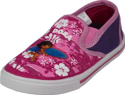 "Dora The Explorer Toddler Girls ""Hawaiian Surfing"" Slip-On Shoes Sneakers 5"