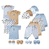 Luvable Friends 16-Piece Mix N Match Layette Set, 0-6 Months, Blue