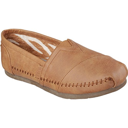 BOBS from Skechers Women's Luxe Bobs - Blue Skies Flat, Chestnut, 8 M US