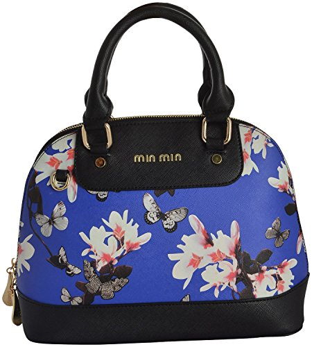 0041ea828d Gouri Bags Black Blue Colour Casual Digital Flower Printed Stylish Trendy  Bag for Girls Women Handbags Satchels Bag Shoulder Soft Leather Bag Ladies  ...