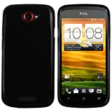 mumbi silicone TPU Coque Case HTC ONE S - Silicon Etui Housse protecteur ONEs Case Noir
