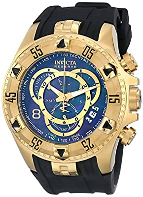 Invicta Men's 6976 Excursion Reserve Chronograph Black MOP Dial Black Polyurethane Watch