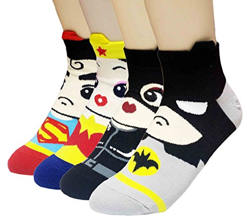 Superheroes and Villains Cartoon Hero Socks
