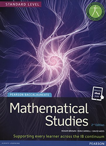 Pearson Baccalaureate Mathematical Studies Print and Ebook Bundle for the IB Diploma (Pearson International Baccalaureate Diploma: International Editions)