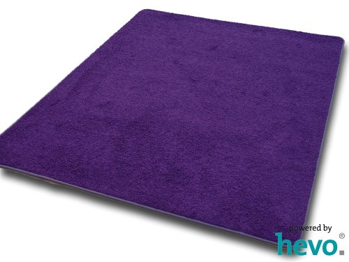 hochflor teppich kitty lila hevo hochflor shaggy teppich. Black Bedroom Furniture Sets. Home Design Ideas