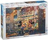 500ピース ジグソーパズル ステンドアート ディズニー 夕暮れのトイショップ ぎゅっとシリーズ(25x36cm)