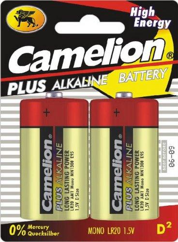 CAMELION piles alkalinePlus ty/d, lR20 lot de 2 piles 1,5 v