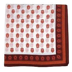 PS-A-658 - Silk Pocket Square - Red - Orange
