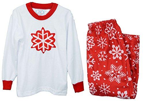 Sara'S Prints Snowflake Pajamas front-503270