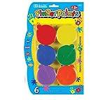 BAZIC Washable Finger Paint, Six Colors per Package
