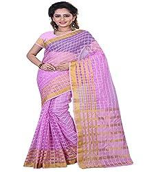 Sanju Splendid Plum Color Cotton Silk Saree