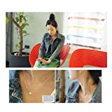 ChineOn Korean Fashion Cute Pretty Sweet Enamel Love Peach Heart Chain Pendant Necklace