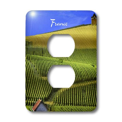 Lsp_180601_6 Florene - France - Image Of Vineyards Panorama In French Countryside - Light Switch Covers - 2 Plug Outlet Cover
