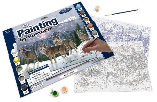 Royal & Langnickel Painting by Numbers Adult Large Art Activity Kit, Wolves at Sears.com